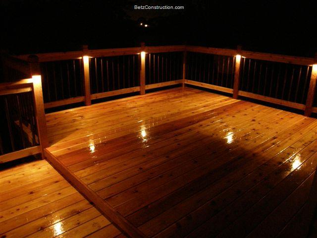 Lighting Basement Washroom Stairs: Betz Construction Exterior Decking, Railings, And Stairs